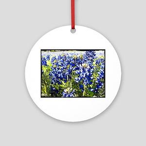Texas Bluebonnets Ornament (Round)