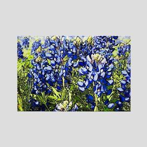 Texas Bluebonnets Rectangle Magnet