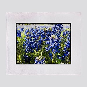 Texas Bluebonnets Throw Blanket