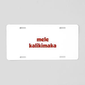 Mele Kalikimaka Aluminum License Plate