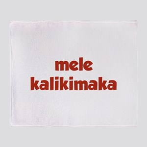 Mele Kalikimaka Throw Blanket
