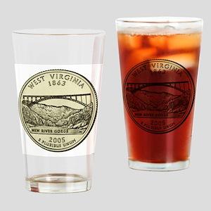 West Virginia Quarter 2005 Basic Drinking Glass