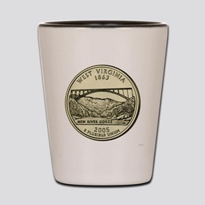 West Virginia Quarter 2005 Basic Shot Glass