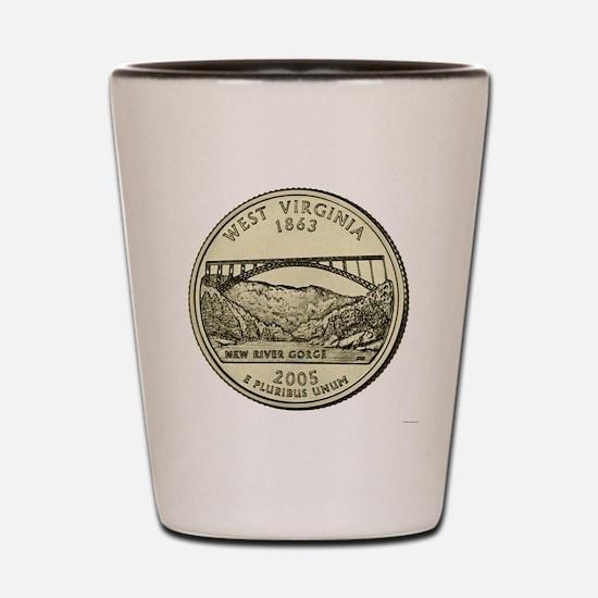 West Virginia Quarter 2005 Basic Shot Glass