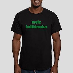 Mele Kalikimaka Men's Fitted T-Shirt (dark)
