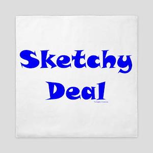 Sketchy Deal Queen Duvet