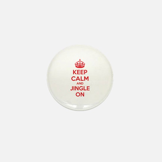 Keep calm and jingle on Mini Button