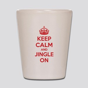 Keep calm and jingle on Shot Glass