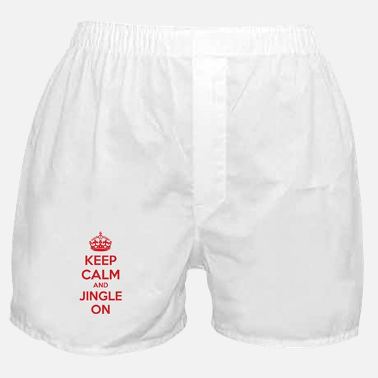 Keep calm and jingle on Boxer Shorts