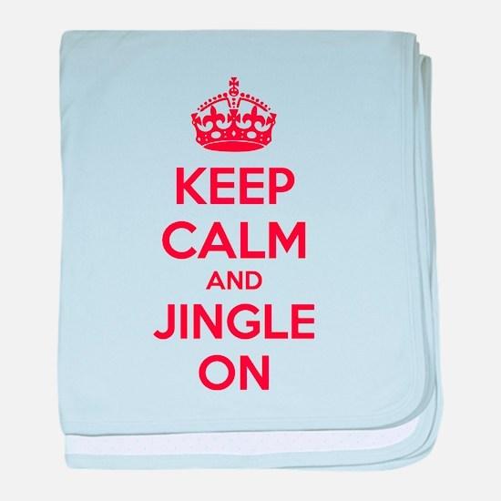 Keep calm and jingle on baby blanket