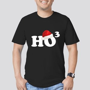 Ho Ho Ho Men's Fitted T-Shirt (dark)