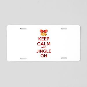 Keep calm and jingle on Aluminum License Plate