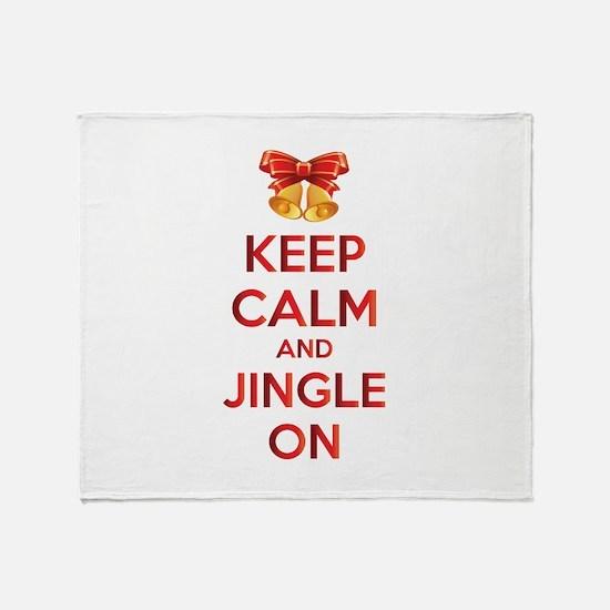Keep calm and jingle on Throw Blanket