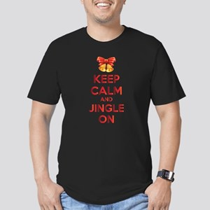 Keep calm and jingle on Men's Fitted T-Shirt (dark