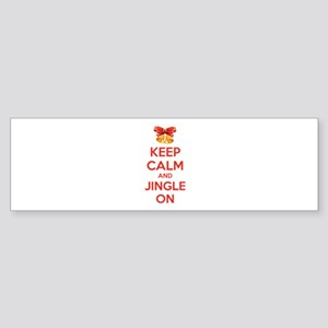 Keep calm and jingle on Sticker (Bumper)