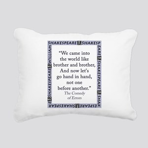 We Came Into The World Rectangular Canvas Pillow