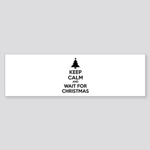 Keep calm and wait for christmas Sticker (Bumper)