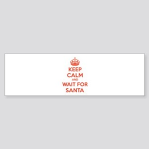 Keep calm and wait for santa Sticker (Bumper)