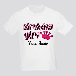 Birthday Girl Zebra Kids Light T-Shirt