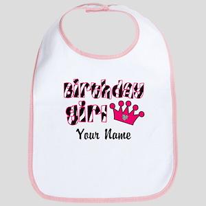 Birthday Girl Zebra Bib