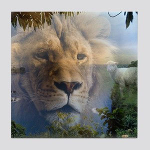 lionlamb.jpg Tile Coaster