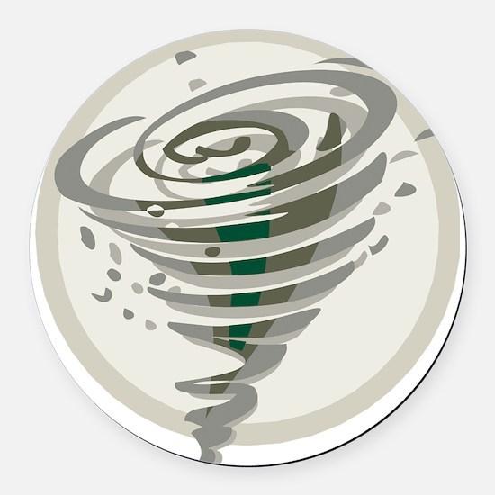 Tornado Round Car Magnet