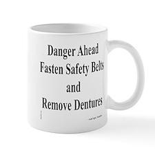 Danger Ahead road sign Mug