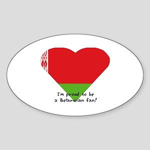Belarusian flag Oval Sticker