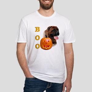 Halloween Bullmastiff Boo Fitted T-Shirt