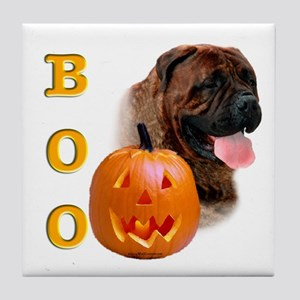 Halloween Bullmastiff Boo Tile Coaster