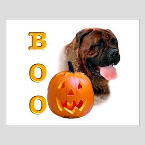 Halloween Bullmastiff Boo Small Poster