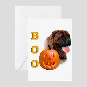 Halloween Bullmastiff Boo Greeting Cards (Package