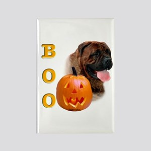 Halloween Bullmastiff Boo Rectangle Magnet