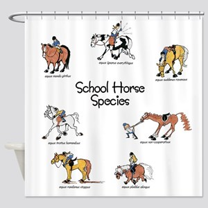 School Horse Species Shower Curtain