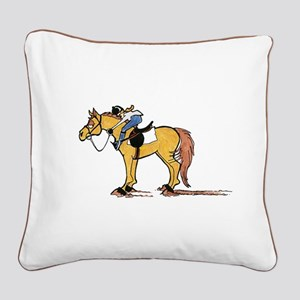 Equus Randomus Stoppus Square Canvas Pillow