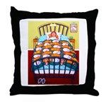 Cat Quilt Throw Pillow
