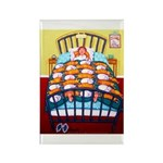 Cat Quilt Rectangle Magnet (100 pack)