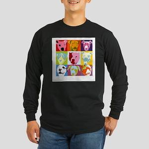 Pop Art Pit Bulls Long Sleeve T-Shirt
