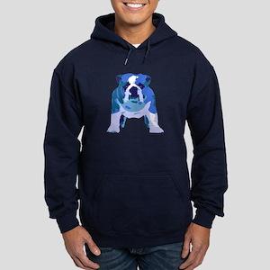 English Bulldog Pop Art Hoodie (dark)