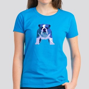 English Bulldog Pop Art Women's Dark T-Shirt