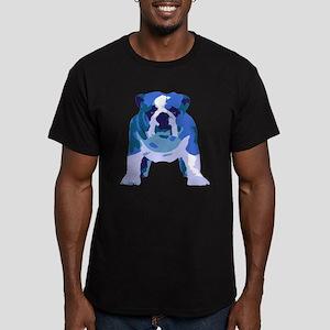 English Bulldog Pop Art Men's Fitted T-Shirt (dark
