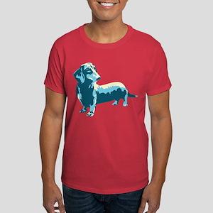 Dachshund Pop Art Dog Dark T-Shirt