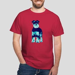 Schnauzer Pop Art Dog Dark T-Shirt