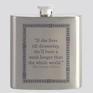 If She Lives Till Doomsday Flask