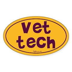Vet Tech Oval Decal