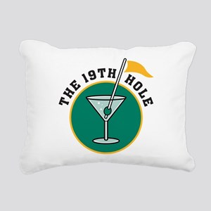 19th hole Rectangular Canvas Pillow