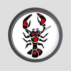 Graphic Lobster Wall Clock