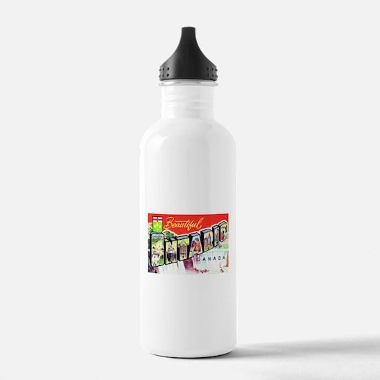 Ontario Canada Greetings Water Bottle