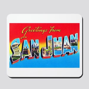 San Juan Puerto Rico Greetings Mousepad