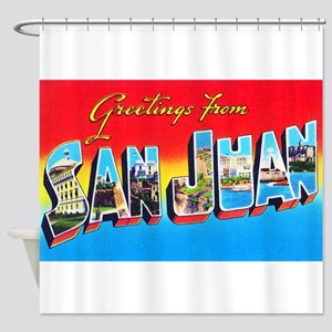San Juan Puerto Rico Greetings Shower Curtain